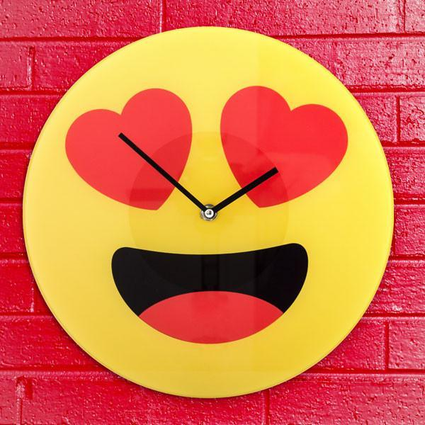 Hearts Emoticon Wall Clock-Universal Store London™