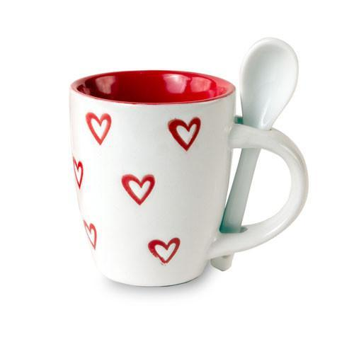 Hearts Mini Mug with Teaspoon-Universal Store London™