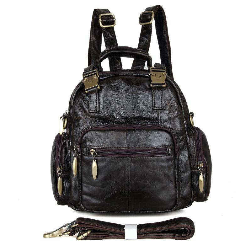 Herald Small Leather Backpack-Universal Store London™