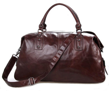 'Hermes' Leather Travel Bag Holdall-Universal Store London™