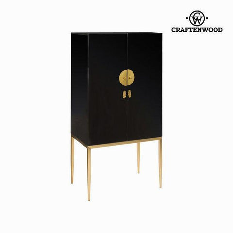 Image of High sideboard classy black lacquered - Modern Collection by Craften Wood-Universal Store London™