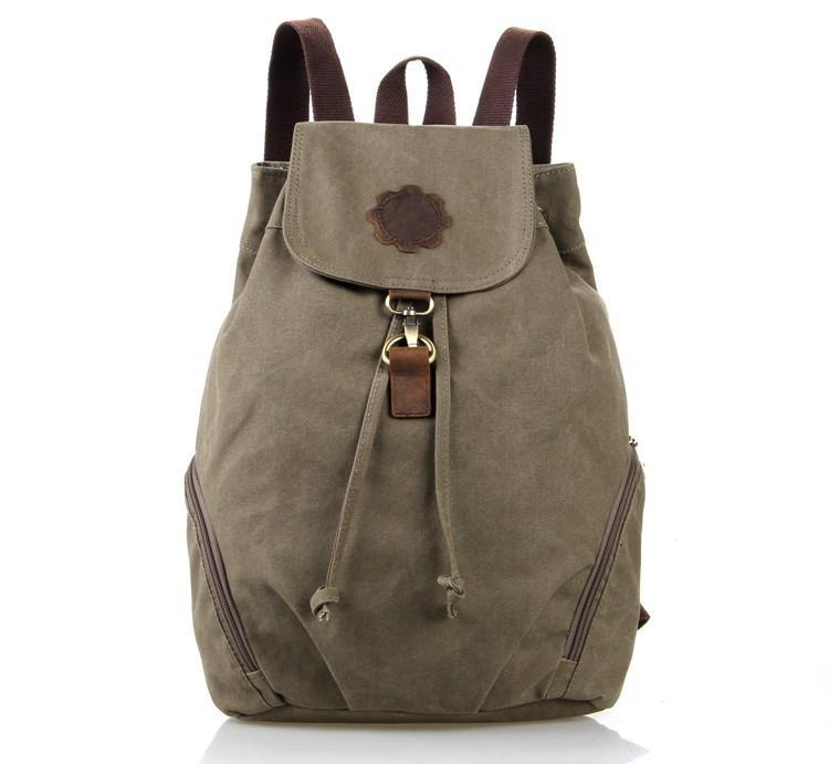 'Hollywood' Classic Canvas and Leather Backpack-Universal Store London™