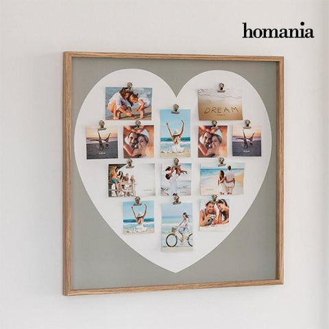 Image of Homania Heart with Clips Wall Photo Frame (13 photos)-Universal Store London™
