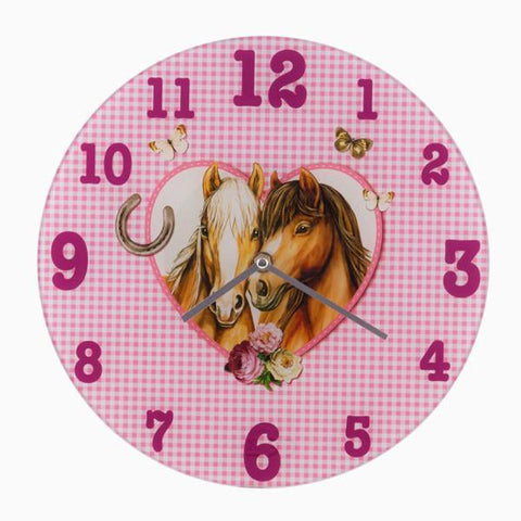 Image of Homania Love Horses Wall Clock-Universal Store London™