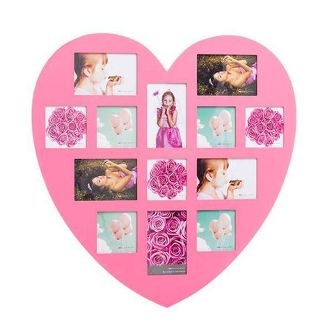 Image of Homania Pink Heart Photo Frame (13 fotos)-Universal Store London™