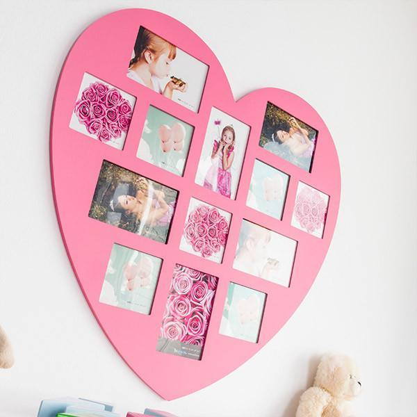 Homania Pink Heart Photo Frame (13 fotos)-Universal Store London™