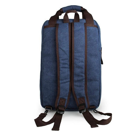 Image of Horsford Large Cotton Canvas Backpack - Denim Blue-Universal Store London™