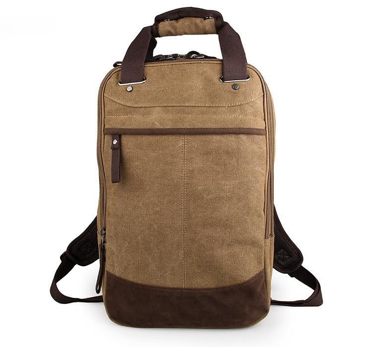 Horsford Large Cotton Canvas Backpack - Khaki-Universal Store London™