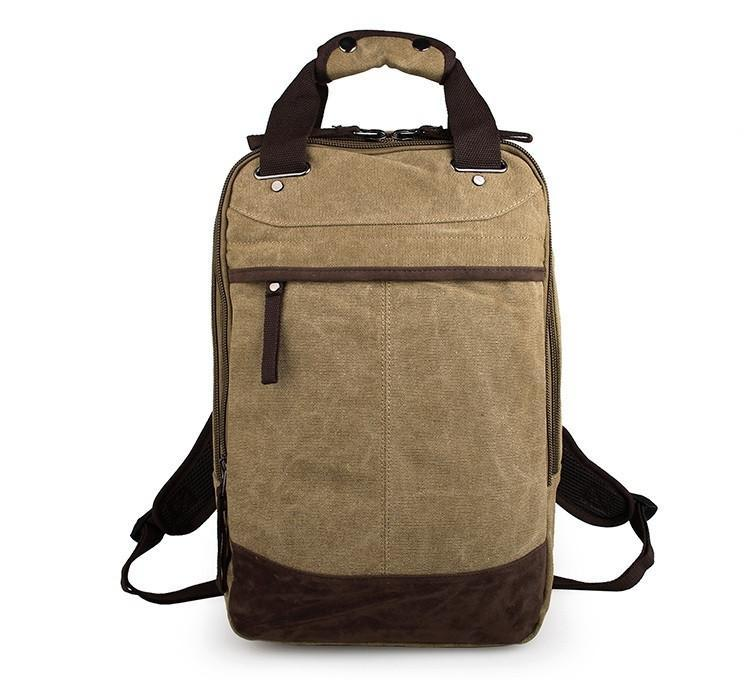 Horsford Large Cotton Canvas Backpack - Light Green-Universal Store London™