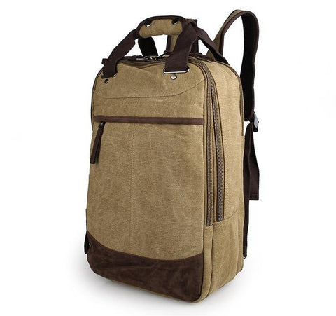 Image of Horsford Large Cotton Canvas Backpack - Light Green-Universal Store London™