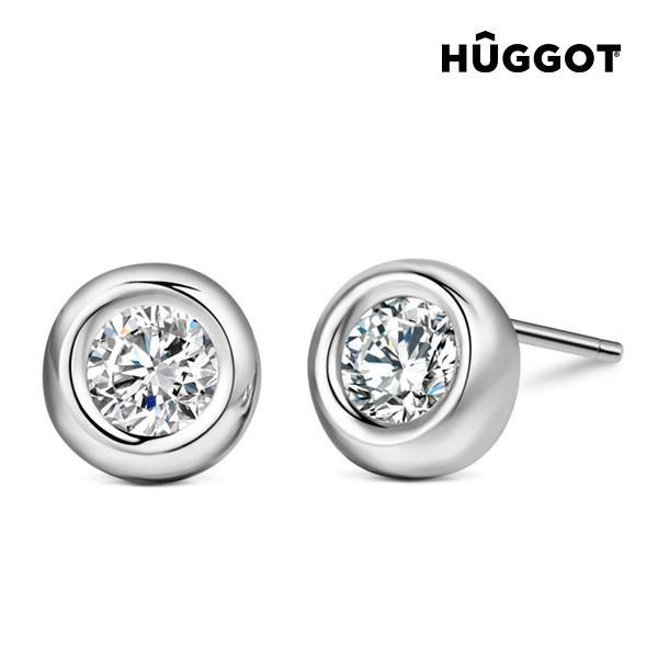 Hûggot Angie 925 Sterling Silver Earrings with Zircons-Universal Store London™