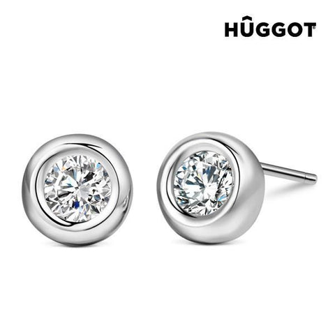 Image of Hûggot Angie 925 Sterling Silver Earrings with Zircons-Universal Store London™