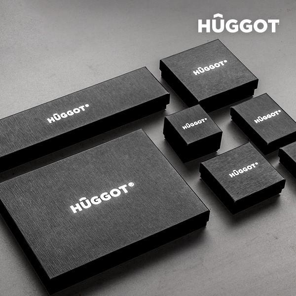 Hûggot Bottle Rhodium-Plated Pendant with Zircons Created with Swarovski®Crystals (45 cm)-Universal Store London™