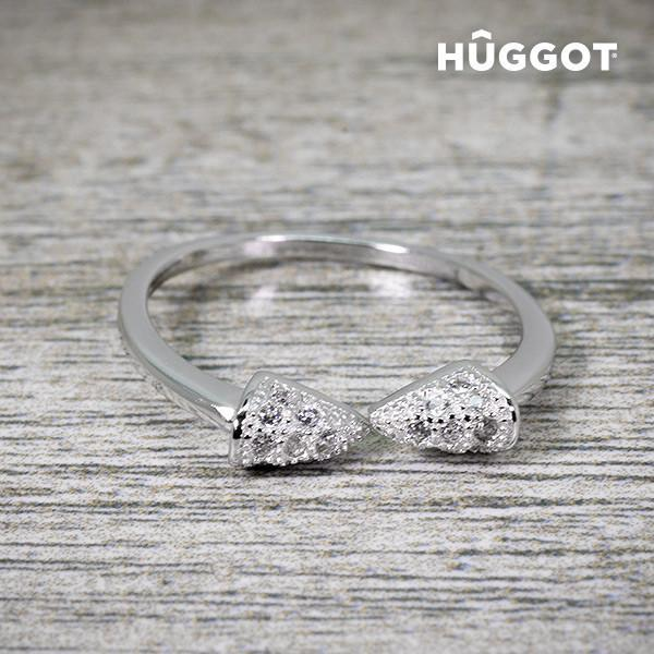 Hûggot Egyptian 925 Sterling Silver Adjustable Ring with Zircons-Universal Store London™