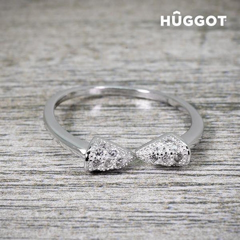 Image of Hûggot Egyptian 925 Sterling Silver Adjustable Ring with Zircons-Universal Store London™