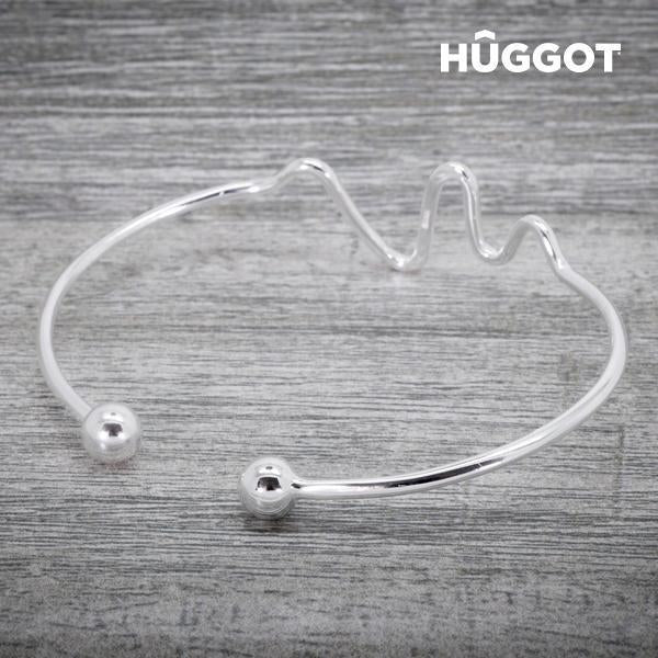 Hûggot Life 925 Sterling Silver Adjustable Bracelet Created with Swarovski®Crystals-Universal Store London™