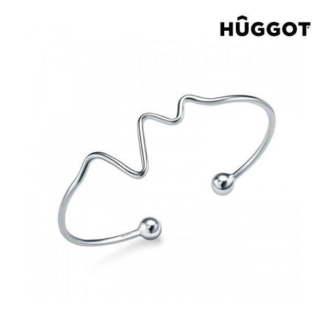 Image of Hûggot Life 925 Sterling Silver Adjustable Bracelet Created with Swarovski®Crystals-Universal Store London™