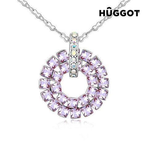 Image of Hûggot Mosaic Rhodium-Plated Pendant with Zircons (45 cm)-Universal Store London™