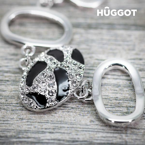 Hûggot Panther Rhodium-Plated Bracelet with Zircons (18 cm)-Universal Store London™
