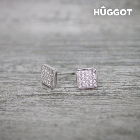 Image of Hûggot Rania 925 Sterling Silver Earrings with Zircons-Universal Store London™