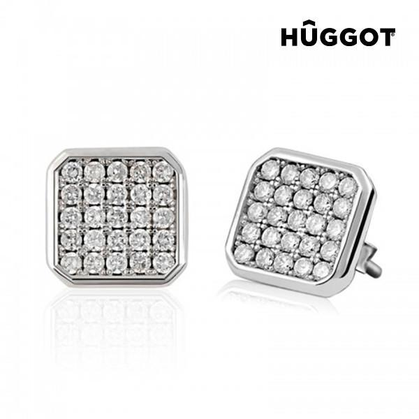 Hûggot Rania 925 Sterling Silver Earrings with Zircons-Universal Store London™