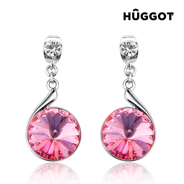 Hûggot Reverse Rhodium-Plated Earrings Created with Swarovski®Crystals-Universal Store London™