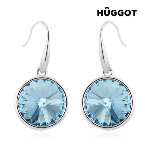 Image of Hûggot Sea Rhodium-Plated Earrings Created with Swarovski®Crystals-Universal Store London™