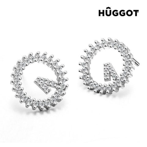 Hûggot Winner 925 Sterling Silver Earrings with Zircons-Universal Store London™