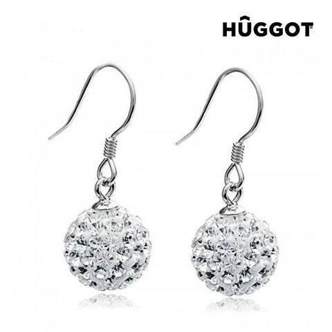 Image of Hûggot World 925 Sterling Silver Earrings with Zircons-Universal Store London™