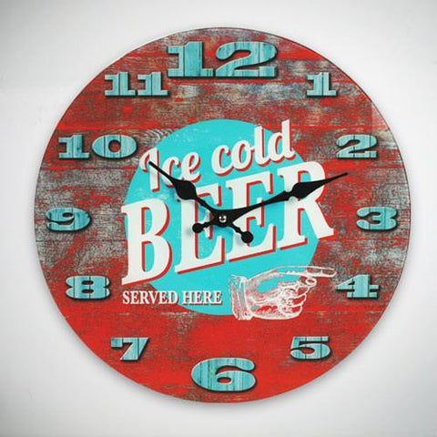 Image of Ice Cold Beer Wall Clock-Universal Store London™