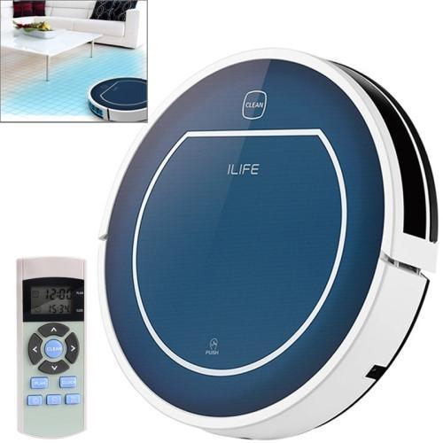 ILIFE V7 Smart Robot Vacuum Cleaner, Bluetooth Control - BLUE-Universal Store London™