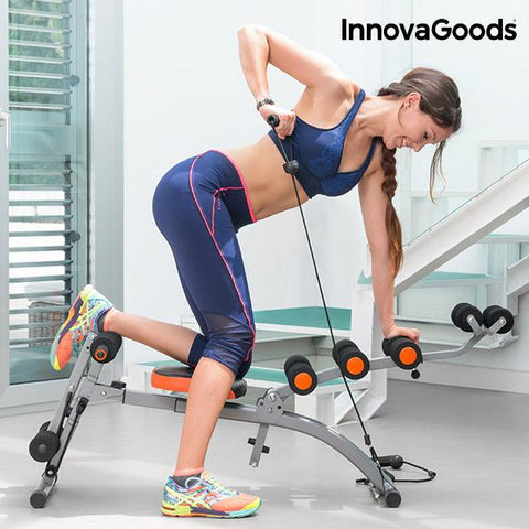 InnovaGoods 6x Integral Exercise Bench with Exercise Guide-Universal Store London™