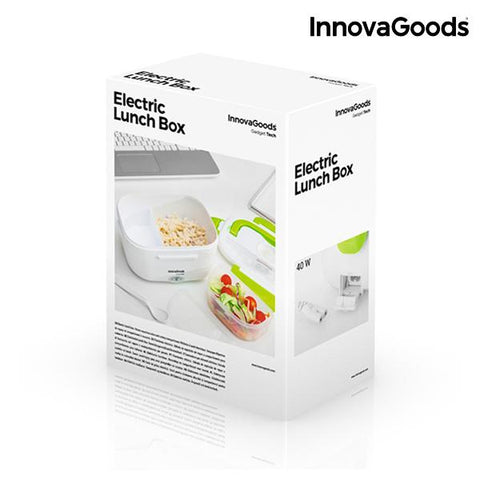 InnovaGoods Electric Lunch Box 40W White Green-Universal Store London™