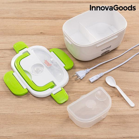 Image of InnovaGoods Electric Lunch Box 40W White Green-Universal Store London™