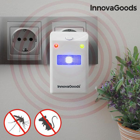 InnovaGoods Insect and Rodent Repellent with LED Light-Universal Store London™