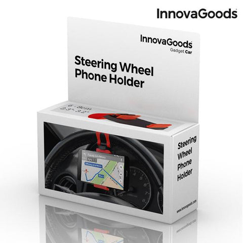 Image of InnovaGoods Mobile Holder for Steering Wheels-Universal Store London™