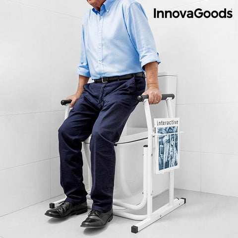 Image of InnovaGoods Safety Rail with Magazine Rack for Toilets-Universal Store London™