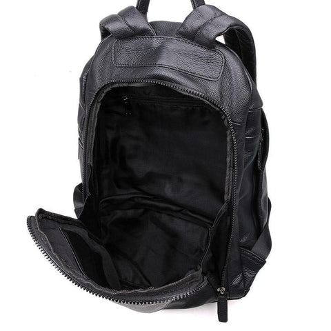 Image of iPack Top Grain Leather Backpack - Black-Universal Store London™