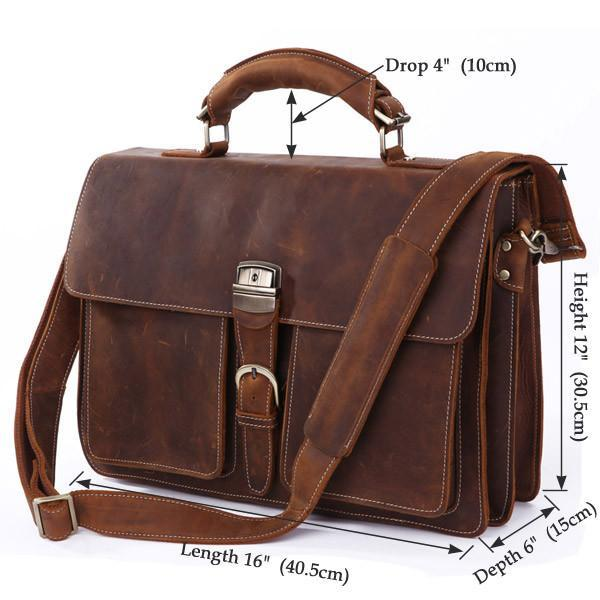 Italian Leather Men's Briefcase-Universal Store London™