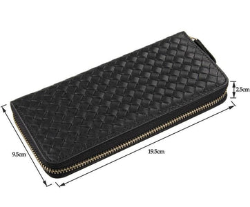 Jane Black Unisex Woven Leather Clutch Wallet Bag-Universal Store London™