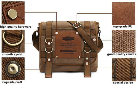 Image of KAUKKO Canvas Messenger Bag-Universal Store London™