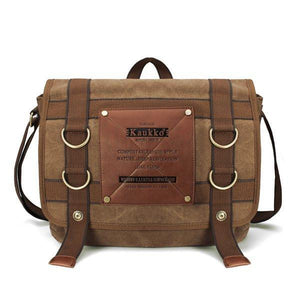 KAUKKO Canvas Messenger Bag-Universal Store London™