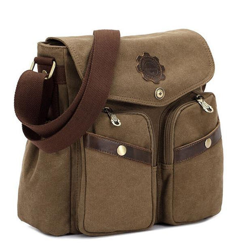 Image of KAUKKO Canvas Messenger Cross Body Bag-Universal Store London™