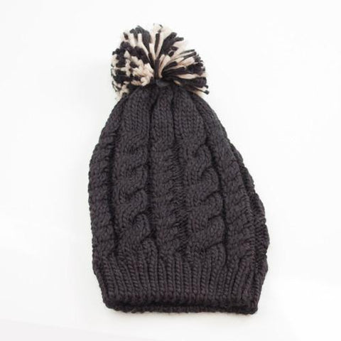Image of Knitted Hat with Pompom-Universal Store London™