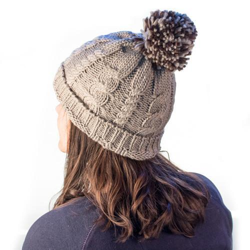 Knitted Hat with Pompom-Universal Store London™