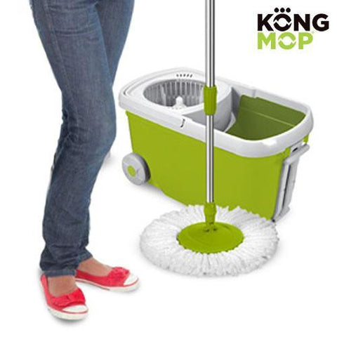 Image of Kong Mop Revolving Mop and Bucket with Wheels-Universal Store London™