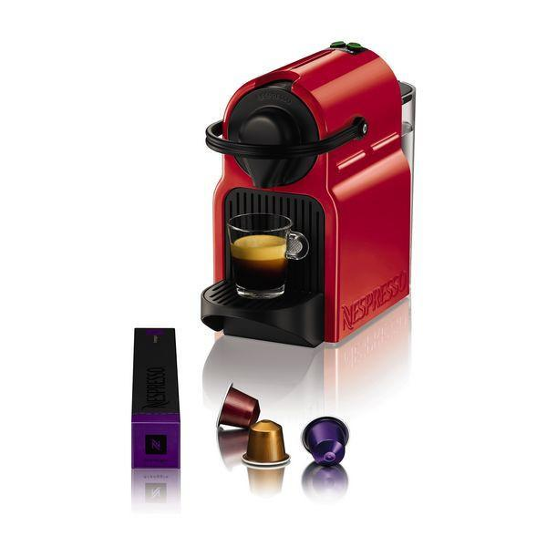 Krups Inissia XN1005 Ruby Red Pod coffee machine 0.7L Red-Universal Store London™
