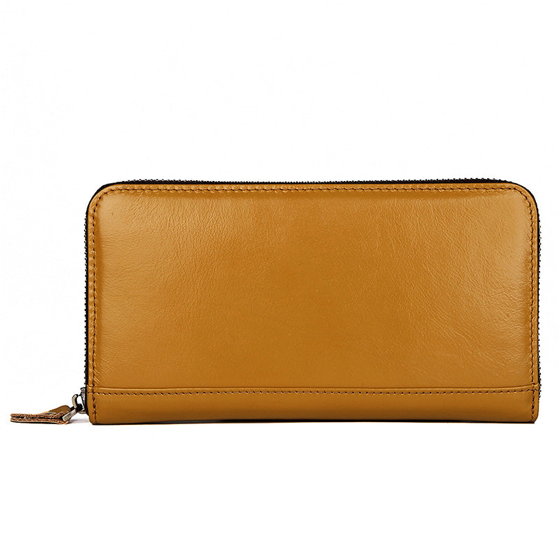 Camden RFID Zip Around Leather Wallet for Women - Amber-Universal Store London™