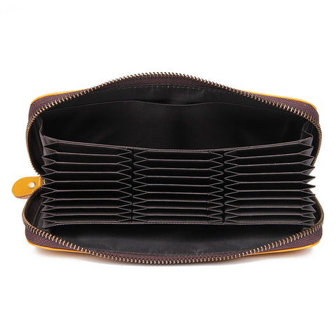 Image of Camden RFID Zip Around Leather Wallet for Women - Amber-Universal Store London™