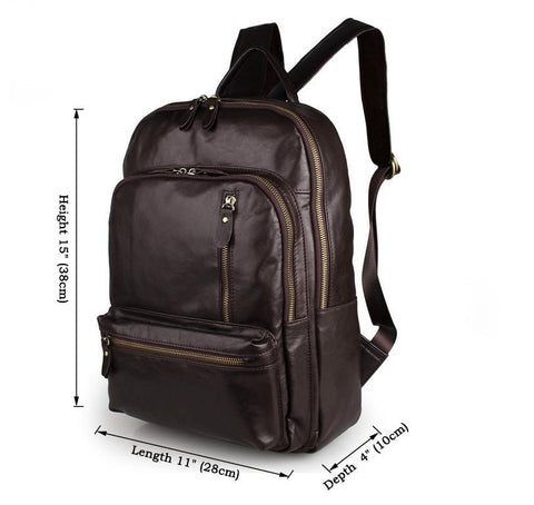 Image of Large Capacity Leather Travel Backpack-Universal Store London™